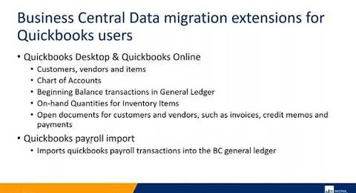 Business Central Data Migration Extensions for QuickBooks Users | Western Computer