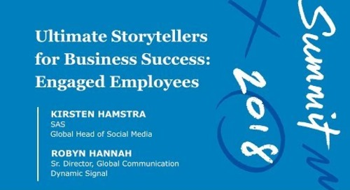 Ultimate Storytellers for Business Success: Engaged Employees (Session Video)