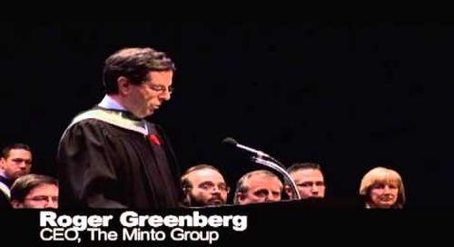 Algonquin College Fall 2012 Convocation - Roger Greenberg
