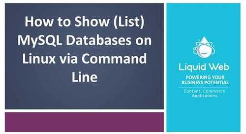 Show (List) MySQL Databases on Linux via Command Line