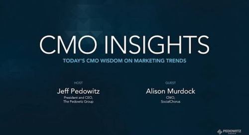CMO Insights: Alison Murdock, CMO of SocialChorus