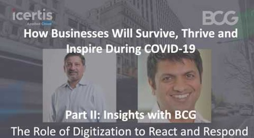 Insights with BCG: The Role of Digitization to React and Respond