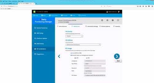 Lenovo XClarity Provisioning Manager - OS Install