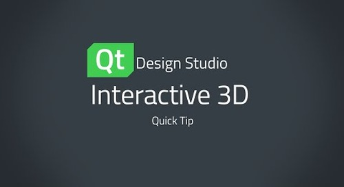 Qt Design Studio QuickTip: Interactive 3D