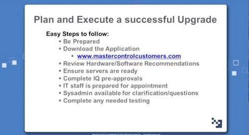 Preparing for Successful Upgrades