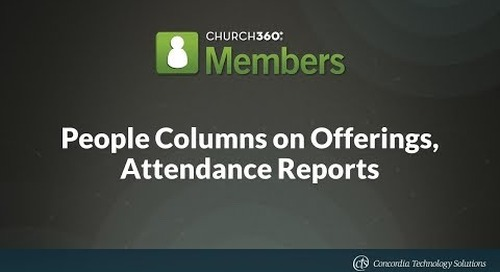 People Columns on Offerings, Attendance Reports