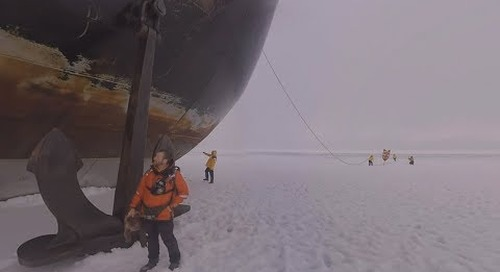 North Pole: Glaciologist Colin Souness talks the 50 Years of Victory (360° VR)