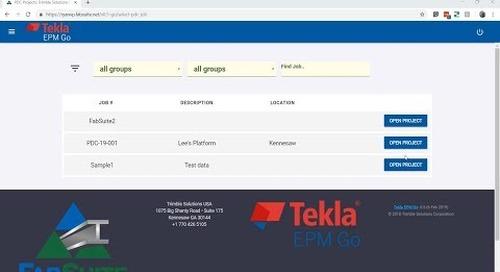 Tekla EPM Go Integrates with Trimble Connect