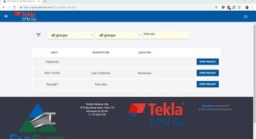 Tekla EPM Go Integrates with Trimble Connect