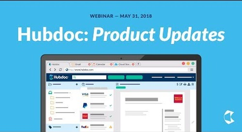 Hubdoc Product Updates - May 2018