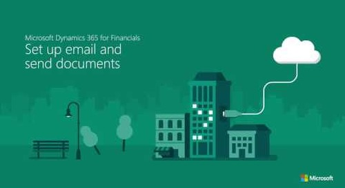 Set up email & send documents in Dynamics 365 for Finance & Operations, Business edition