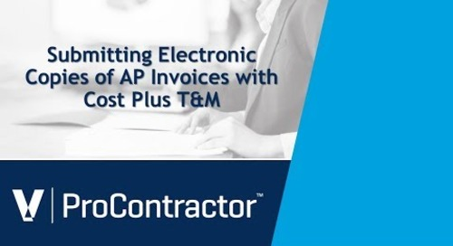 ProContractor Submitting Electronic Copies of AP Invoices with Cost Plus T M Invoices