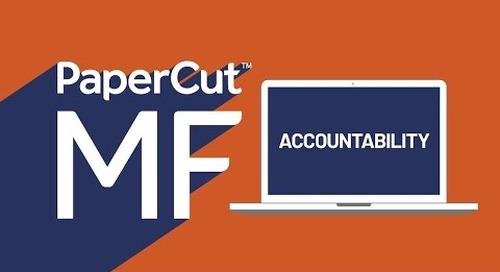 Brazilian Portuguese PaperCut MF Accountability Video