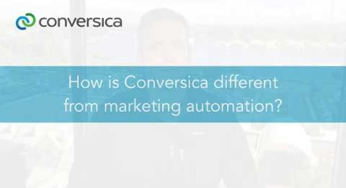 How is Conversica different from marketing automation?