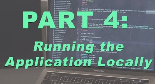 How to Build a Multi Region App - Part 4, Running the App Locally