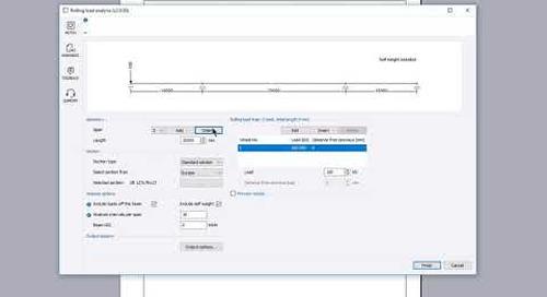 Rolling load analysis (Eurocode)