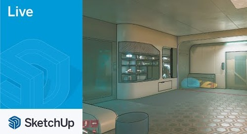 Modeling V's Apartment from Cyberpunk 2077 in SketchUp Live! Match Photo Time!
