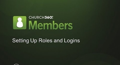 Church360° Members Setting Permission Roles