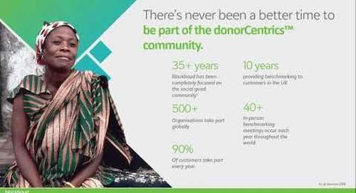 Collaborative Benchmarking with donorCentrics
