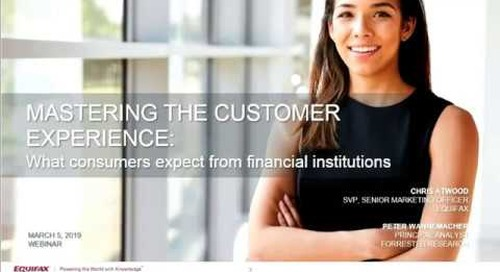 What Consumers Expect from Financial Institutions Forrester Webinar