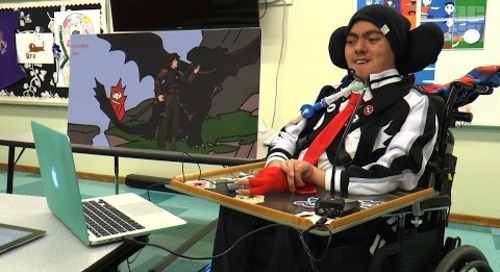 Student With Spinal Muscular Atrophy Showcases the Art of Possibility