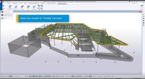 Tekla Structures 2020 to Trimble Connect: Uploading Models