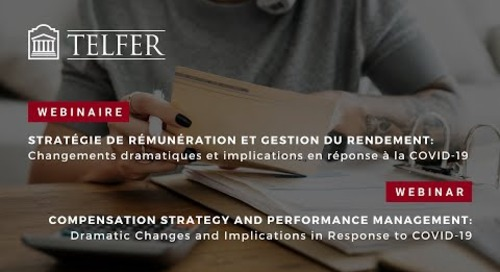 Compensation Strategy and Performance Management: Changes and Implications in Response to COVID-19