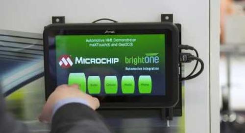 BrightONE's Gesture Control Demo on an Automotive HMI {showcase}