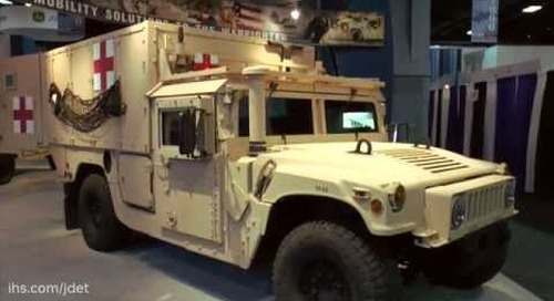 AUSA 2015: AM General on their new M1100 Series HMMWV Advanced Life Support Ambulance