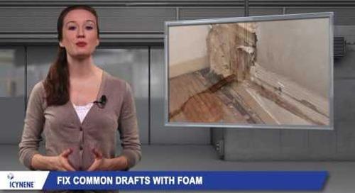 How Icynene Spray Foam Insulation Helps with Drafts
