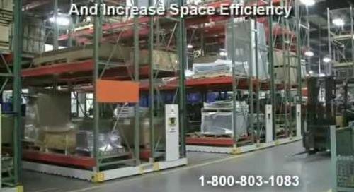 Motorized Pallet Racks   Rolling Warehouse Racking   Heavy Duty Industrial Storage