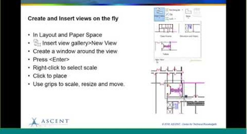 ASCENT Webcast: Named Views and Layout Viewports in AutoCAD 2019