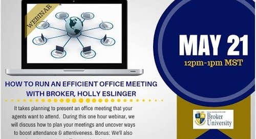 Improve Your Real Estate Brokerage Office Meetings 5.21.2015