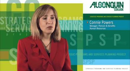 Human Resources, Algonquin College - SPSP Project
