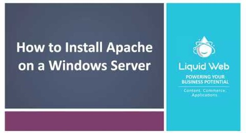 How to Install Apache on a Windows Server