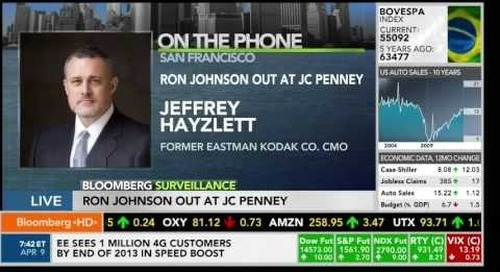 Bloomberg TV - Ron Johnson's Departure from JCPenney