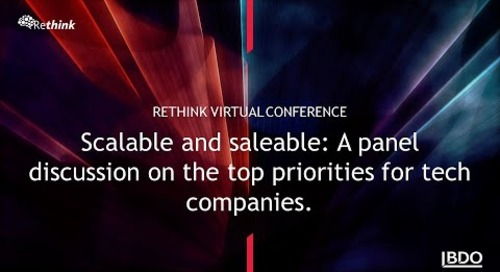 Scalable and saleable: A panel discussion on the top priorities for tech companies | BDO Canada