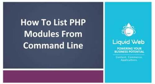 List PHP Modules from the Command Line