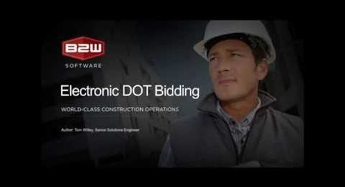 B2W Estimate: Electronic DOT Bidding