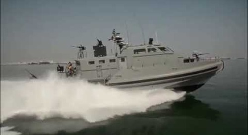 Mark VI Patrol Boat Coastal Riverine Force (US Navy) at Sea Air Space 2014