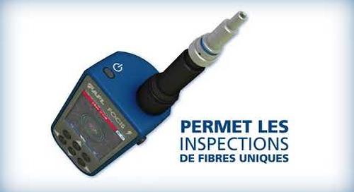 AFL présente le système d'inspection de connecteurs multifibres FOCIS Lightning®.