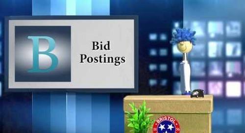 Billy Bristol Discusses the Bids N' FAQ Center
