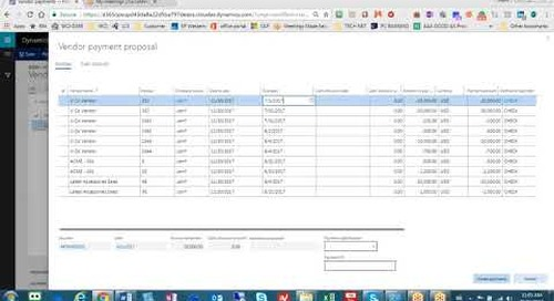 How to do an AP Check Run in D365 for Finance and Operations