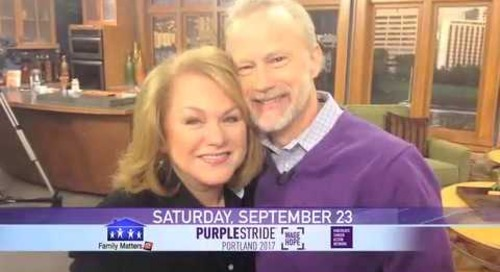 Providence KATU Family Matters Sept 2017 30 Pancreatic Cancer Purple Strides