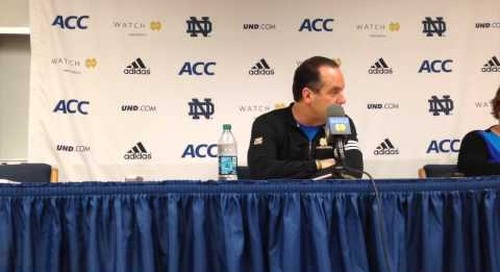 Mike Brey Press Conference 1-9-14
