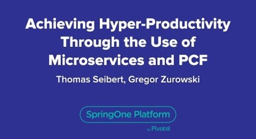 Achieving Hyper-Productivity Through the Use of Microservices