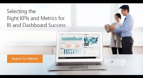 Webinar - Selecting the Right KPIs for BI and Dashboard Success