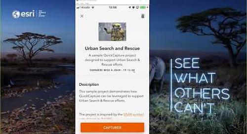 ArcGIS QuickCapture  l'application de collecte rapide de données sur le terrain