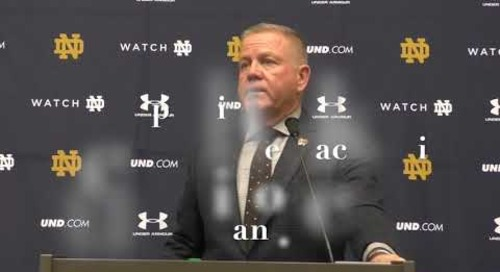 Brian Kelly Virginia Tech Press Conference