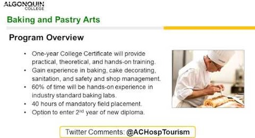 Baking and Pastry Arts - Webinar